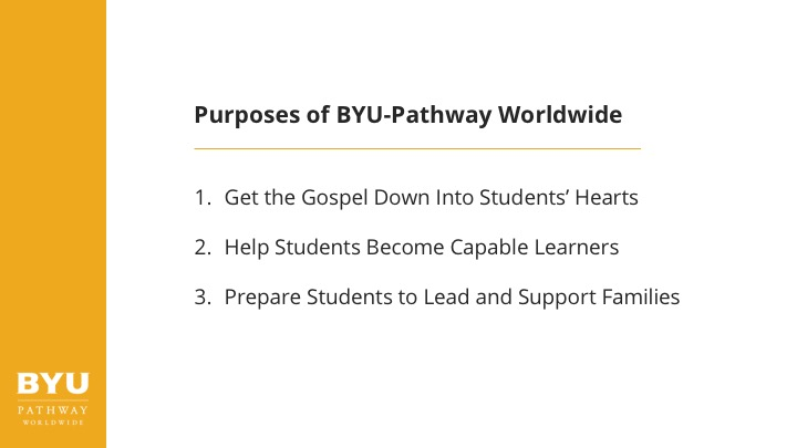 purposes of BYU-Pathway Worldwide